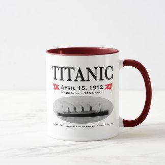 Canecas de café titânicas do navio do fantasma,