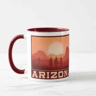 Canecas do por do sol da arizona