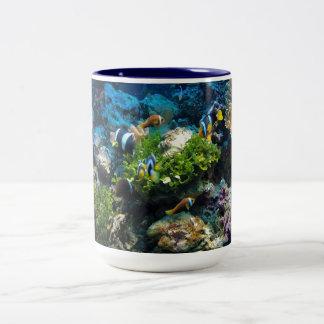 Canecas do recife de corais