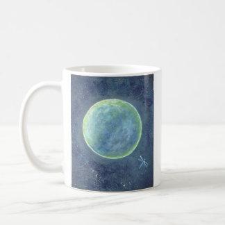 Canecas dos trabalhos artísticos originais, da lua