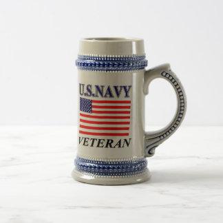 Canecas e copos de café do veterano dos E.U.