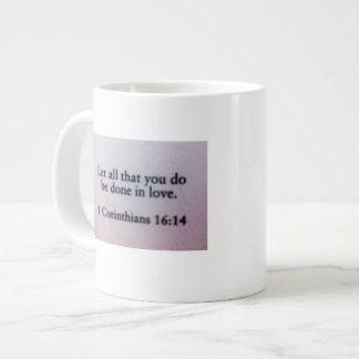 Canecas inspiradas: 16:14 dos Corinthians Jumbo Mug