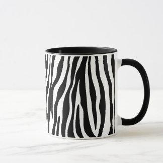 Canecas preto e branco da listra da zebra