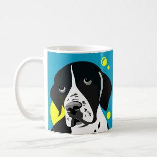 Canecas preto e branco originais do cão do