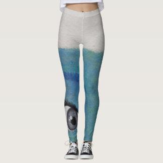 Caneleiras adolescentes pintadas originais das leggings