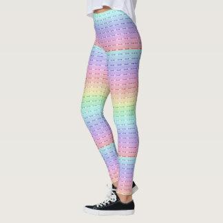 Caneleiras - All Over - costura do arco-íris Leggings