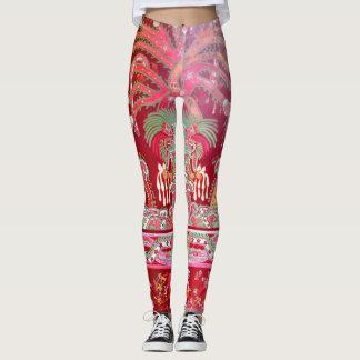 Caneleiras astecas mexicanas do teste padrão do leggings