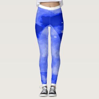 Caneleiras azuis da malhação da ioga de Turbo Legging