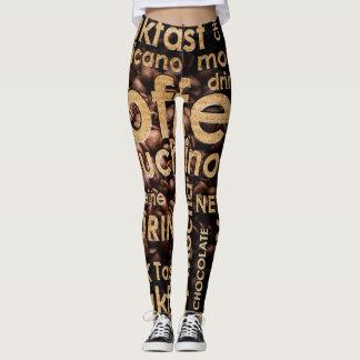 Caneleiras bonitas do café do café leggings