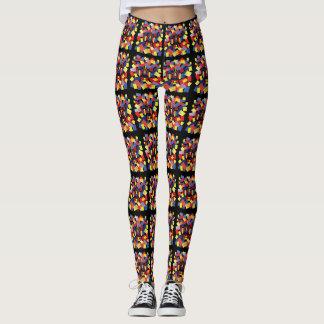 Caneleiras coloridas do design geométrico leggings