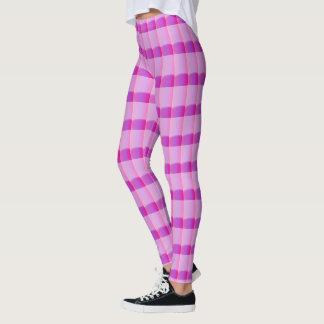 Caneleiras cor-de-rosa e roxas leggings