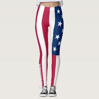 Caneleiras da bandeira do basculador leggings