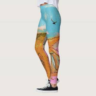 Caneleiras da estrela do mar e dos escudos leggings