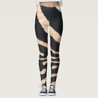 Caneleiras da listra da zebra legging