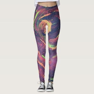 Caneleiras da série do espaço leggings