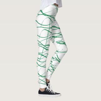 Caneleiras de entrelaçamento legging