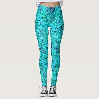Caneleiras de Le Liza Design (ambarinas no azul) Leggings