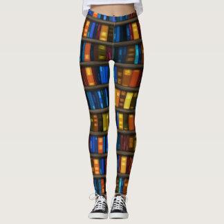 Caneleiras do design dos amantes de livro leggings