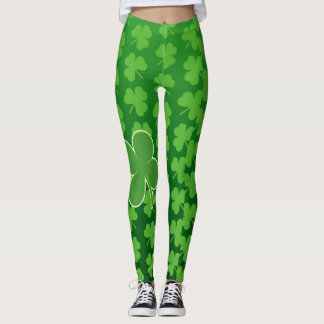 Caneleiras do dia de St Patrick Leggings