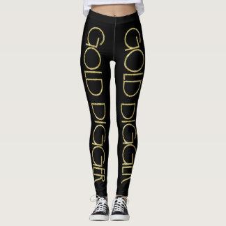 Caneleiras do escavador de ouro leggings