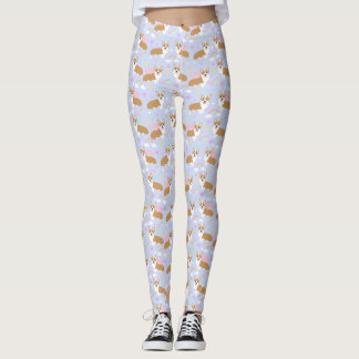 Caneleiras do Pastel do unicórnio do Corgi Legging