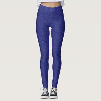 Caneleiras florais azuis leggings