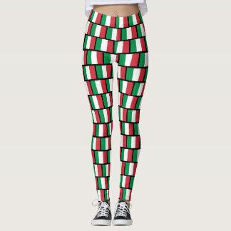 Caneleiras italianas do teste padrão da bandeira legging