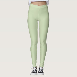 Caneleiras macias do verde da hortelã leggings