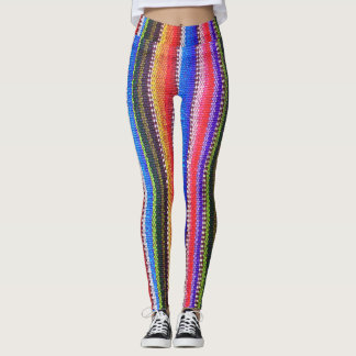 Caneleiras mexicanas do teste padrão do design do leggings
