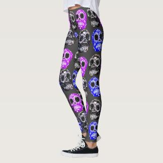 Caneleiras mexicanas do teste padrão do design dos leggings