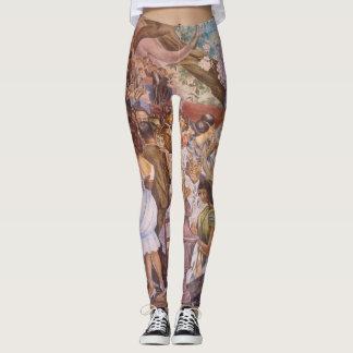 Caneleiras murais mexicanas do teste padrão do leggings