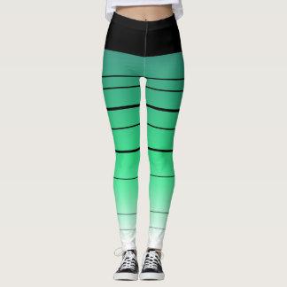 Caneleiras pretas e verdes de Ombre Legging