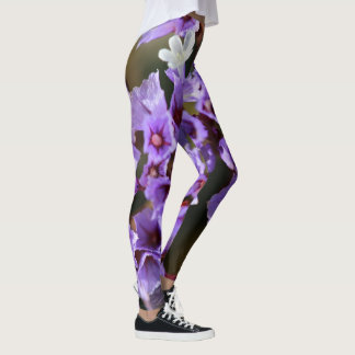 Caneleiras roxas da flor leggings
