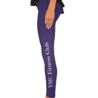 Caneleiras roxas do clube de malhação das mulheres calças leggings