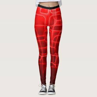 Caneleiras vermelhas super da forma da malhação do legging