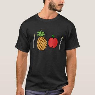 caneta da maçã do abacaxi da caneta camiseta