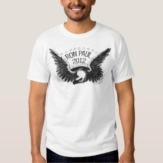 Caneta de feltro do preto de Ron Paul 2012 Tshirts