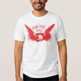 Caneta de feltro do vermelho de Ron Paul 2012 Tshirts