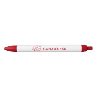 Caneta Preta Logotipo do oficial de Canadá 150 - vermelho