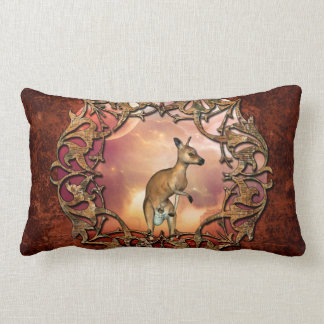 Canguru bonito com bebê almofada lombar