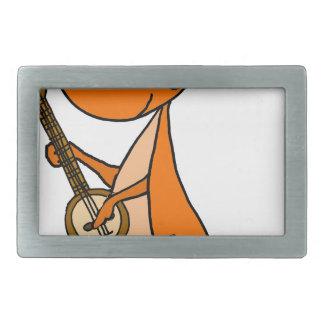 Canguru bonito que joga desenhos animados do banjo