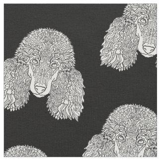Caniche - cães detalhados tecido