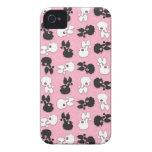 Caniche Cuties na identificação iPhone4 do rosa