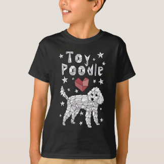 Caniche de brinquedo geométrica camiseta