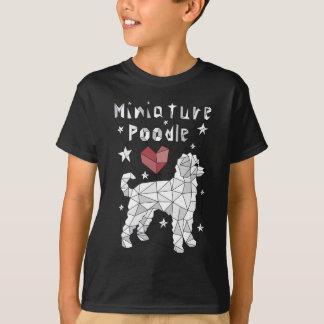 Caniche diminuta geométrica camiseta