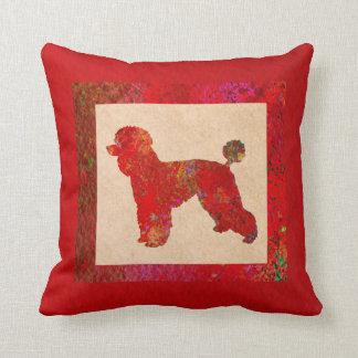 Caniche vermelha almofada