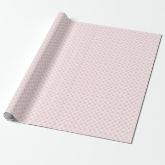Caniches cor-de-rosa bonitos & verificações papel de presente