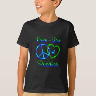 Caniches do amor da paz camiseta