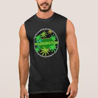 Cannabis do estado de Washington/modelo da Camisa Sem Mangas