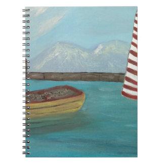 Canoa amarela grande cadernos espiral